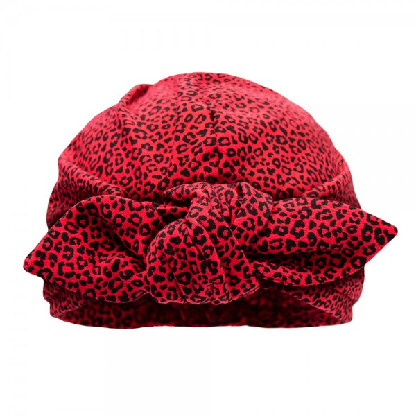 Turban BONNIE MINI | Jersey leo, rot