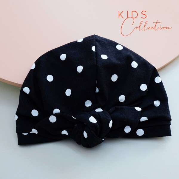 Turban BONNIE MINI | Jersey polkadot