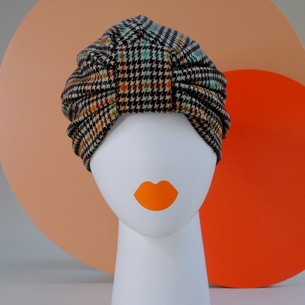 Turban BOWIE | Houndstooth multi