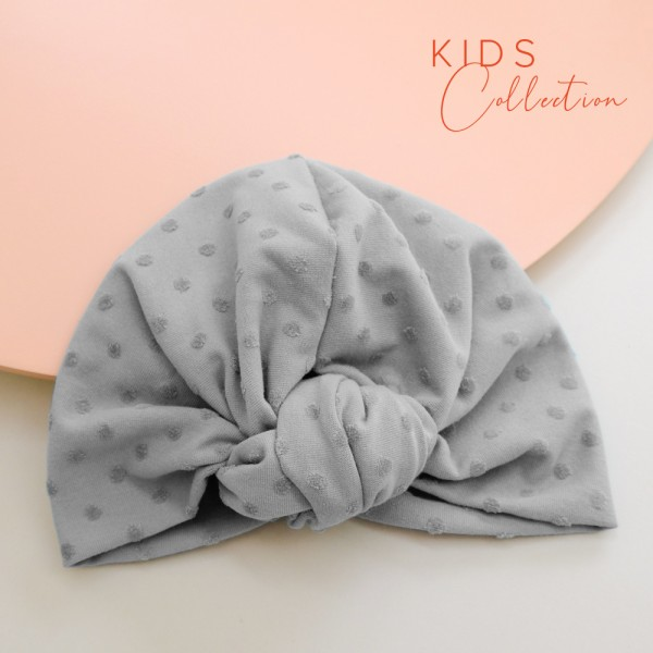 Turban ROSIE MINI | Dotty grau