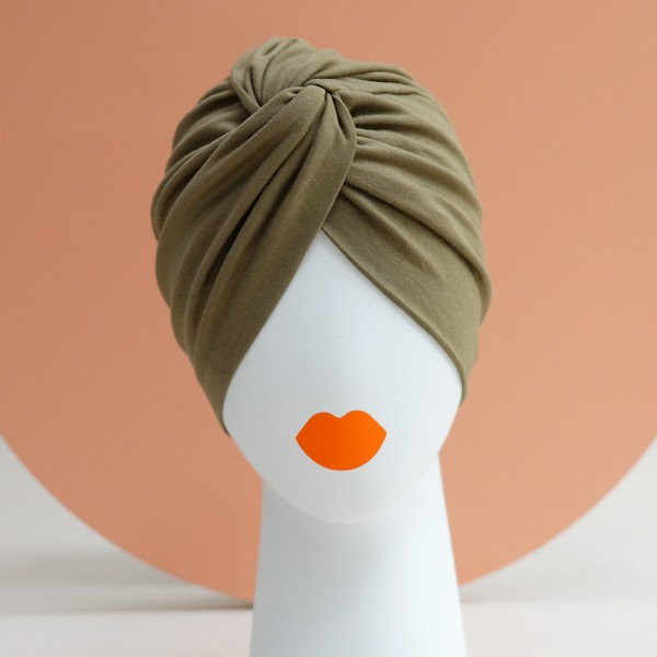 Turban 2WAY | Viskose-Jersey, oliv